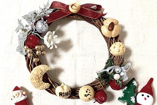 本物のパン生地でできたミニチュアパンで♪ オリジナルクリスマスリースを作ろう!